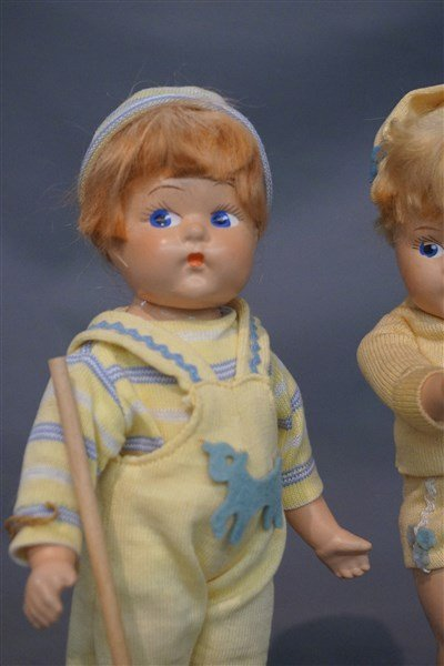 Early Vogue Ginny Toddles Dolls c. 1940's - 2