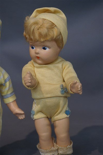 Early Vogue Ginny Toddles Dolls c. 1940's - 3