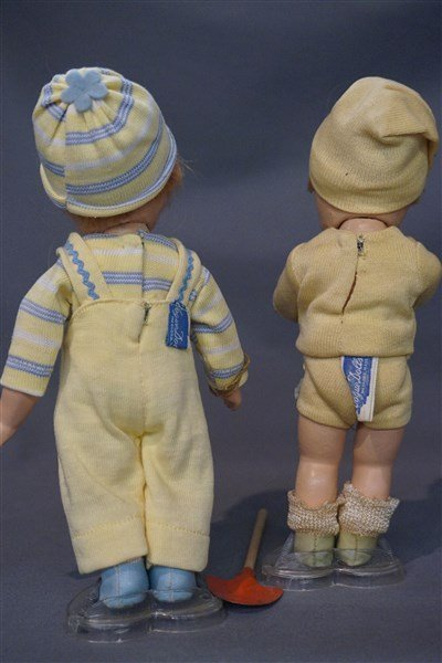 Early Vogue Ginny Toddles Dolls c. 1940's - 5