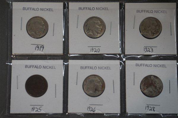 Buffalo and V Nickel Lot - 2