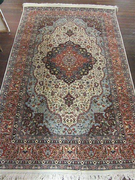 "Persian Wool Carpet 88"" X 55 1/2"""