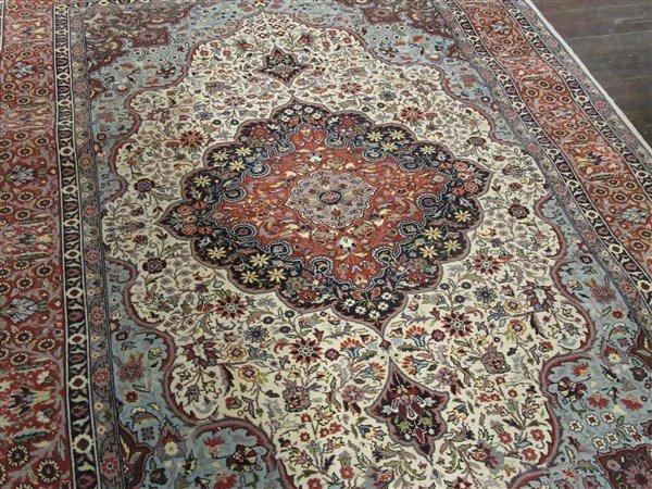 "Persian Wool Carpet 88"" X 55 1/2"" - 3"