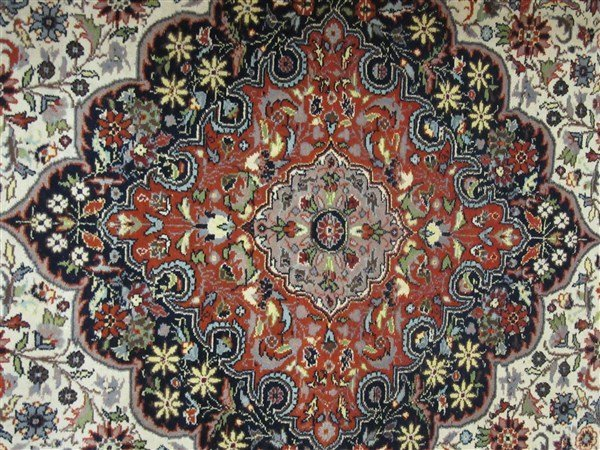 "Persian Wool Carpet 88"" X 55 1/2"" - 4"