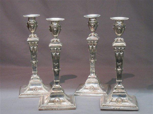 George III English Silver Candlesticks c.1779