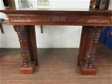 Fine Victorian Style Carved Mahogany Mantel