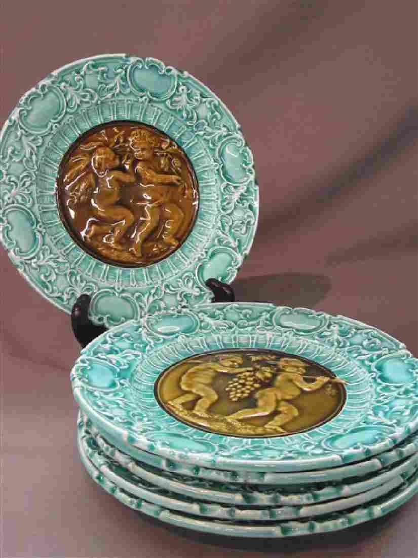 Six (6) Villeroy & Boch Majolica Plates