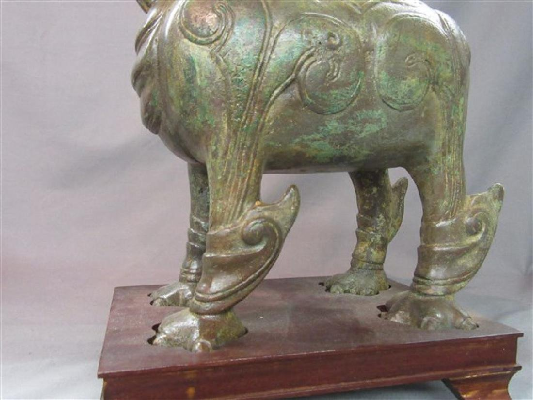 Chinese Bronze Foo Dog Censor - 7