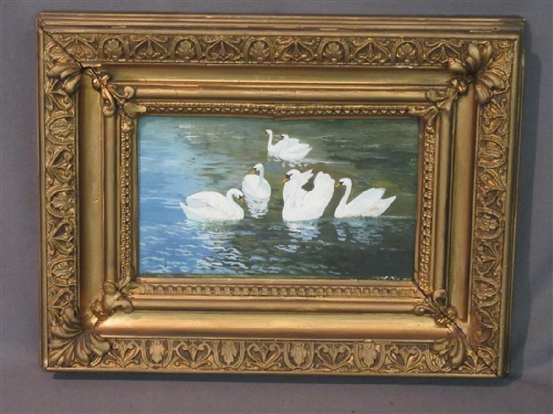 Arthur Heyer (German 1872-1931) Swans