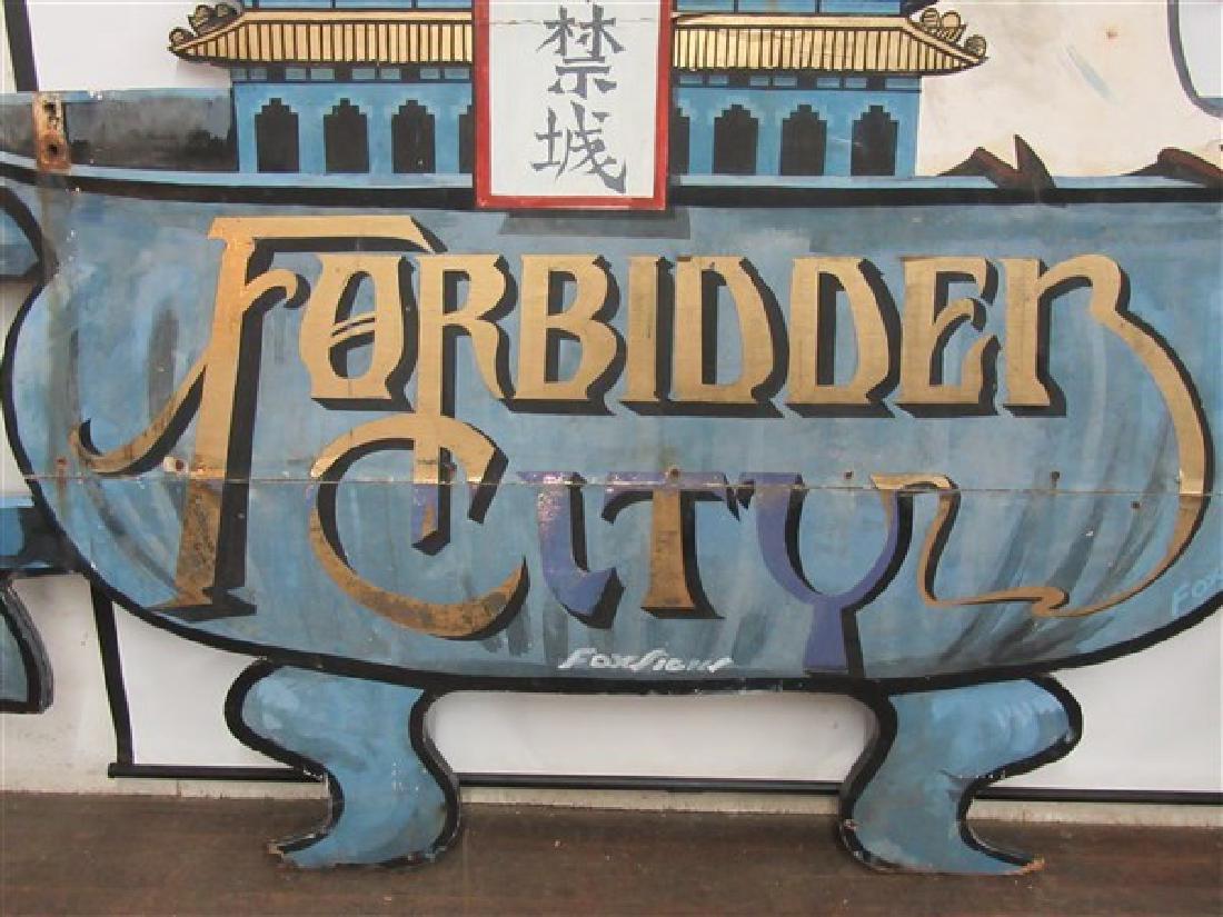 "1940's Original NYC Chinatown Sign ""Forbidden City"" - 3"