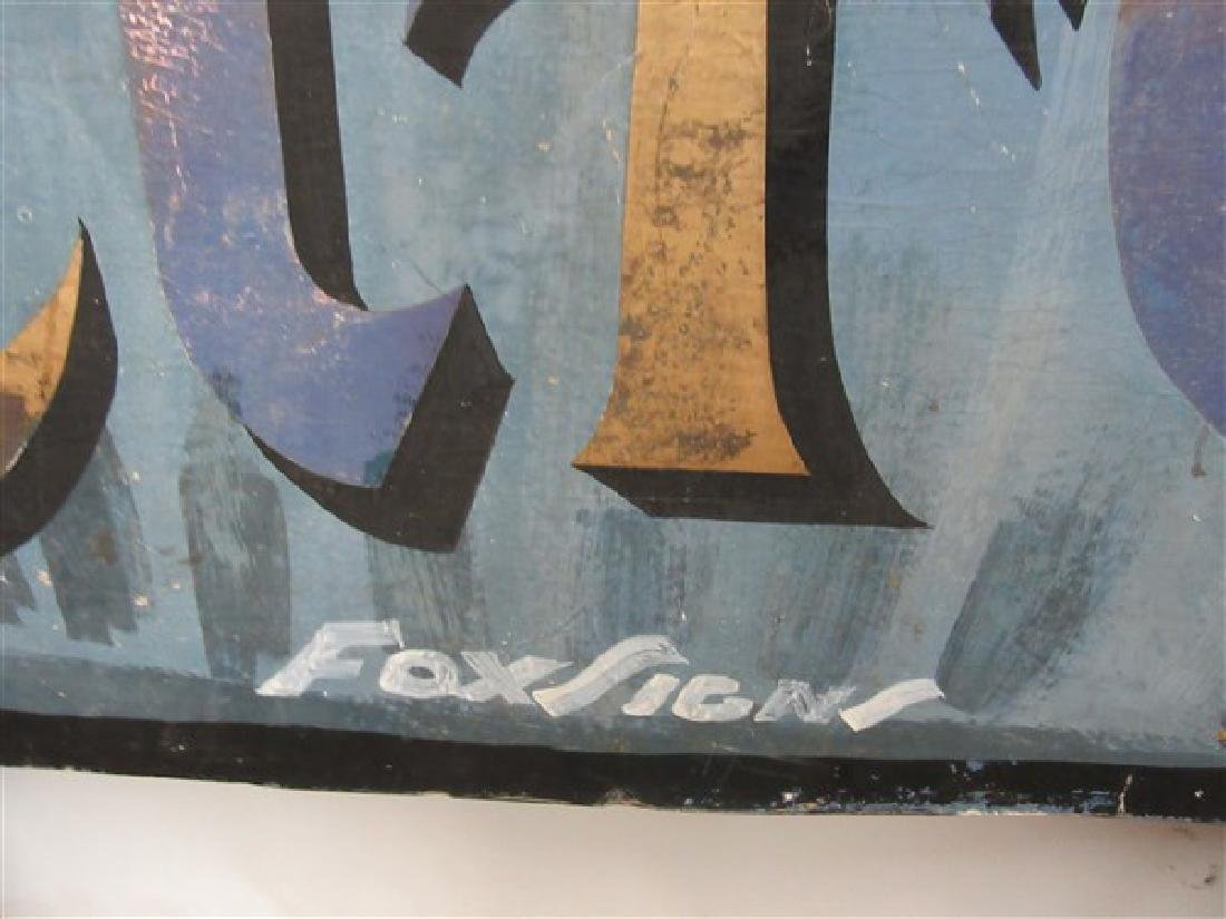 "1940's Original NYC Chinatown Sign ""Forbidden City"" - 4"