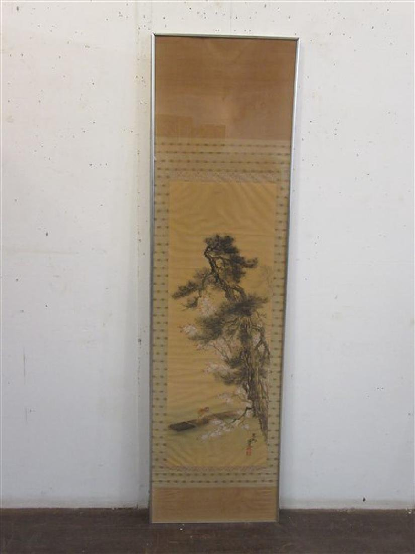 Japanese Silk Scroll Painting