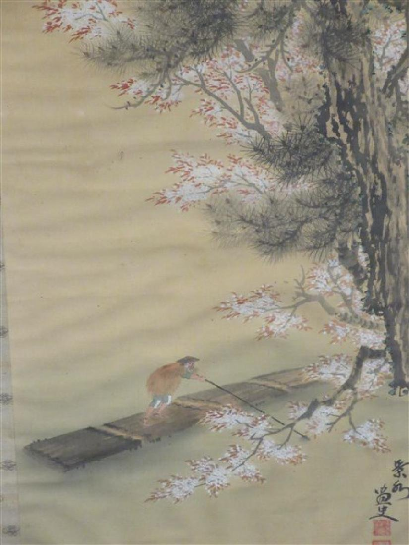Japanese Silk Scroll Painting - 2