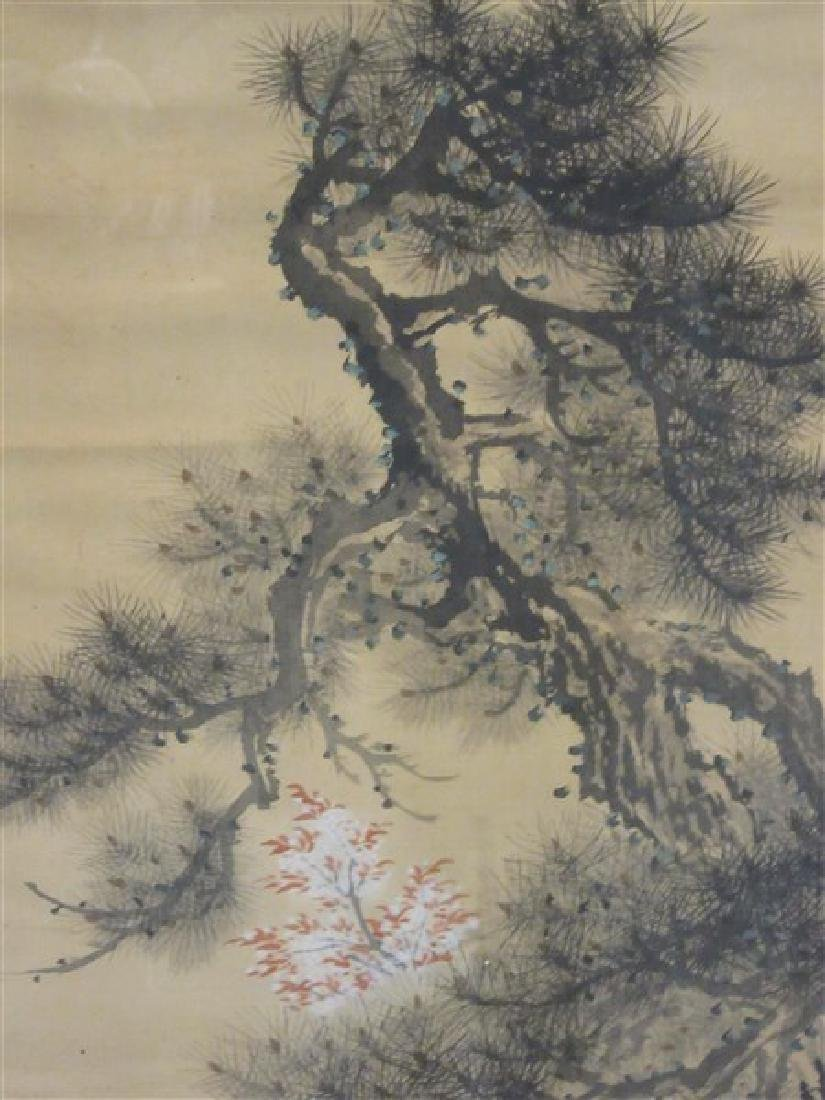 Japanese Silk Scroll Painting - 3
