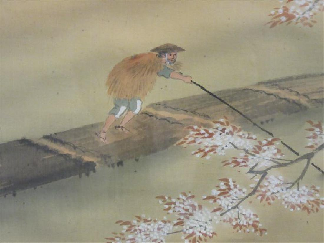 Japanese Silk Scroll Painting - 4