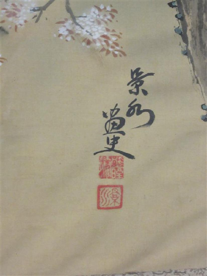 Japanese Silk Scroll Painting - 5