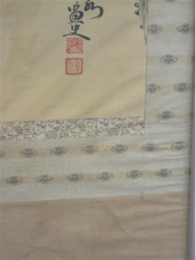 Japanese Silk Scroll Painting - 6
