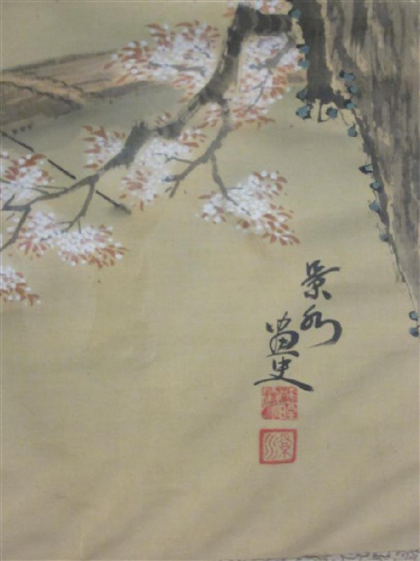 Japanese Silk Scroll Painting - 7