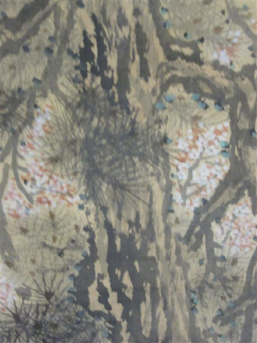 Japanese Silk Scroll Painting - 8