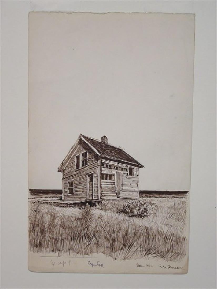 Cape Cod Pen in Ink Drawing c.1953