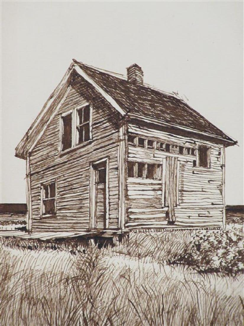Cape Cod Pen in Ink Drawing c.1953 - 2