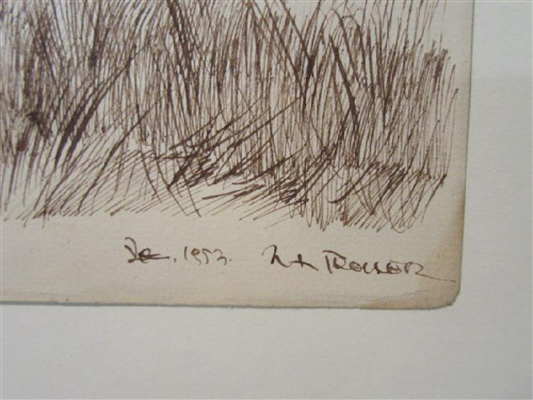 Cape Cod Pen in Ink Drawing c.1953 - 3