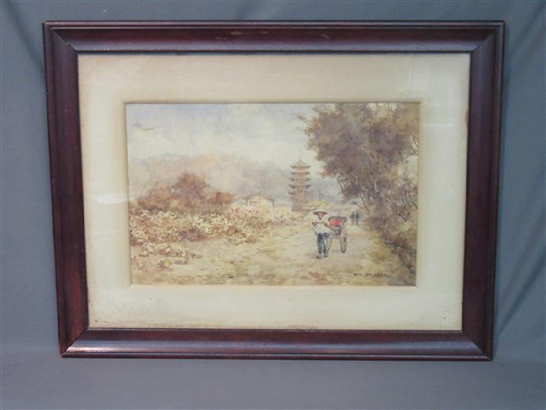 Kinichiro Ishikawa( 1871-1945)  Watercolor