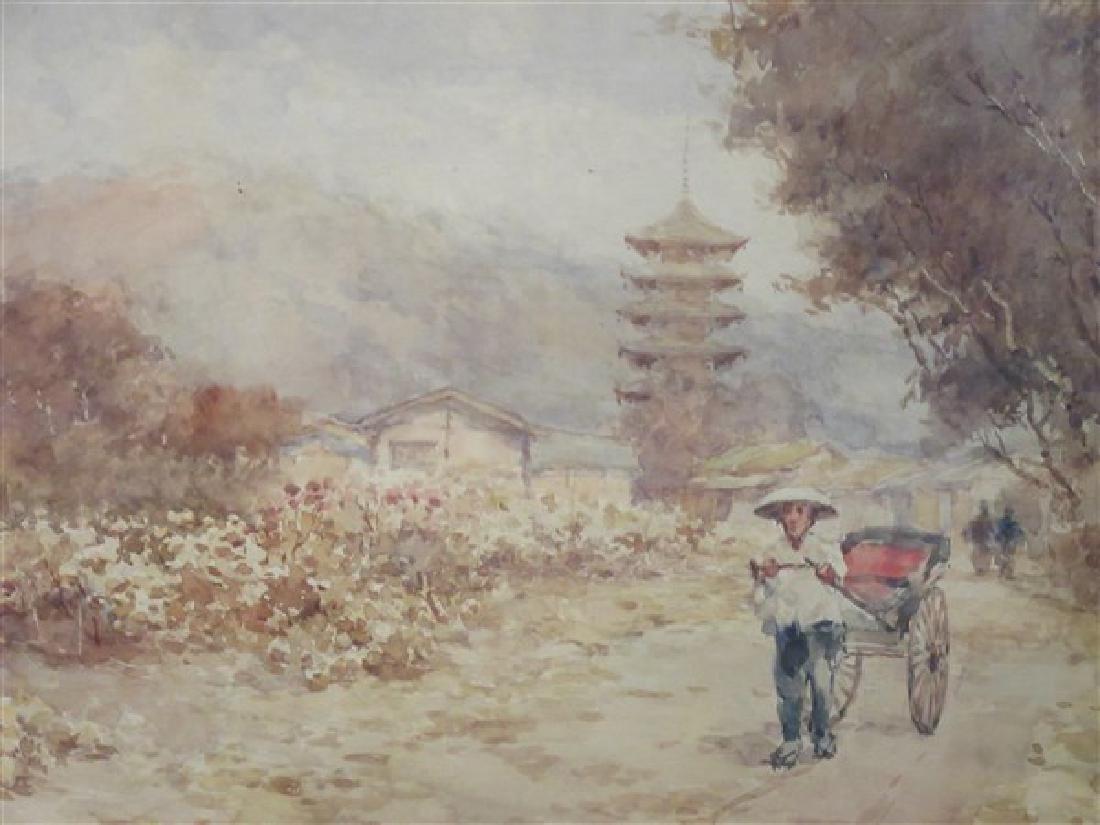 Kinichiro Ishikawa( 1871-1945)  Watercolor - 2