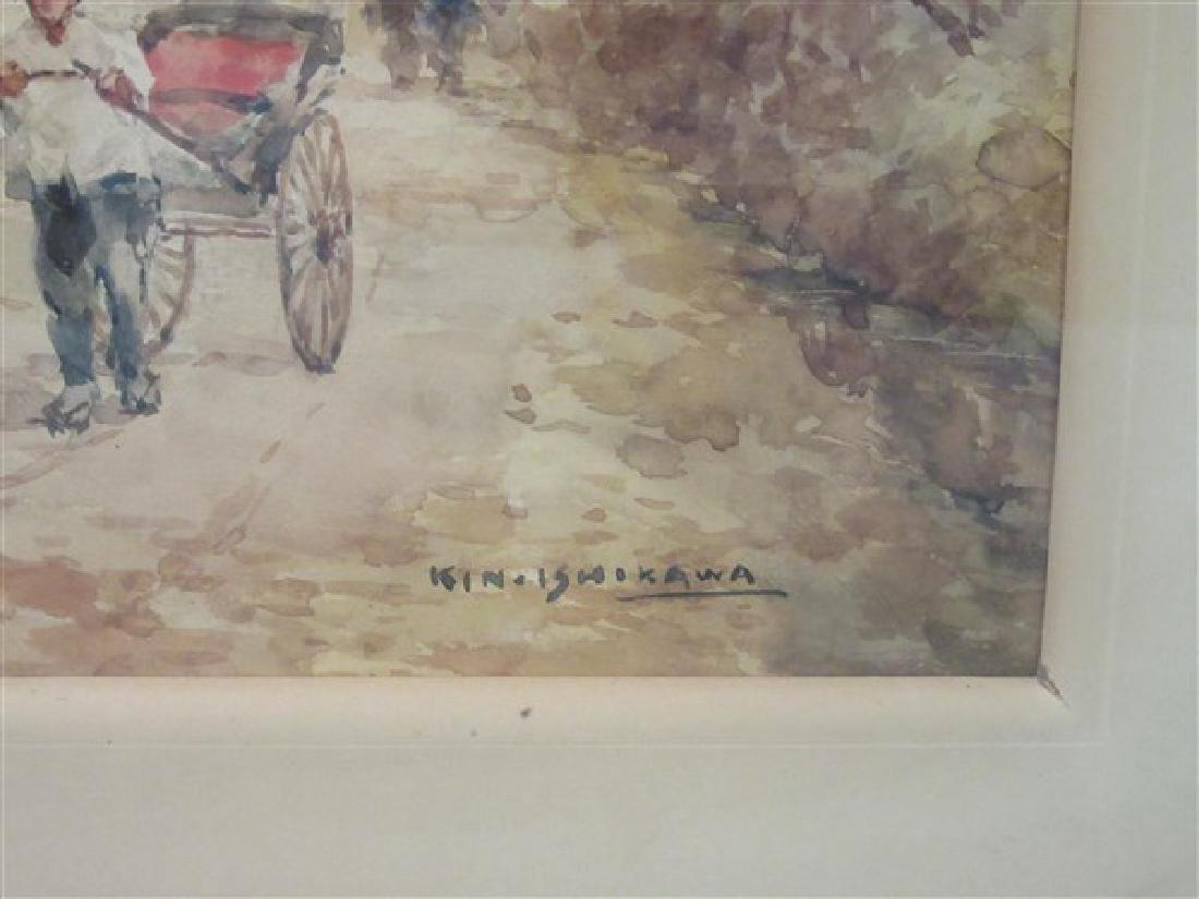 Kinichiro Ishikawa( 1871-1945)  Watercolor - 3