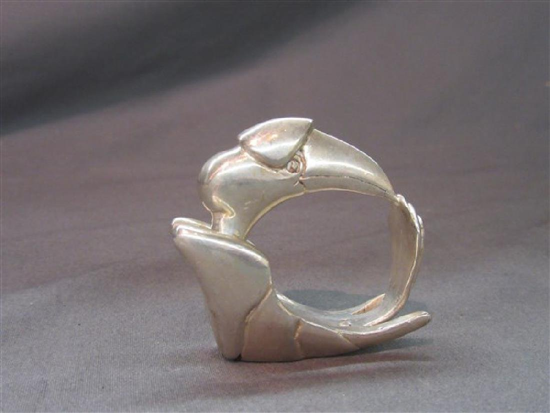 Clifton Nicholson Sterling Silver Bird Napkin Ring - 2