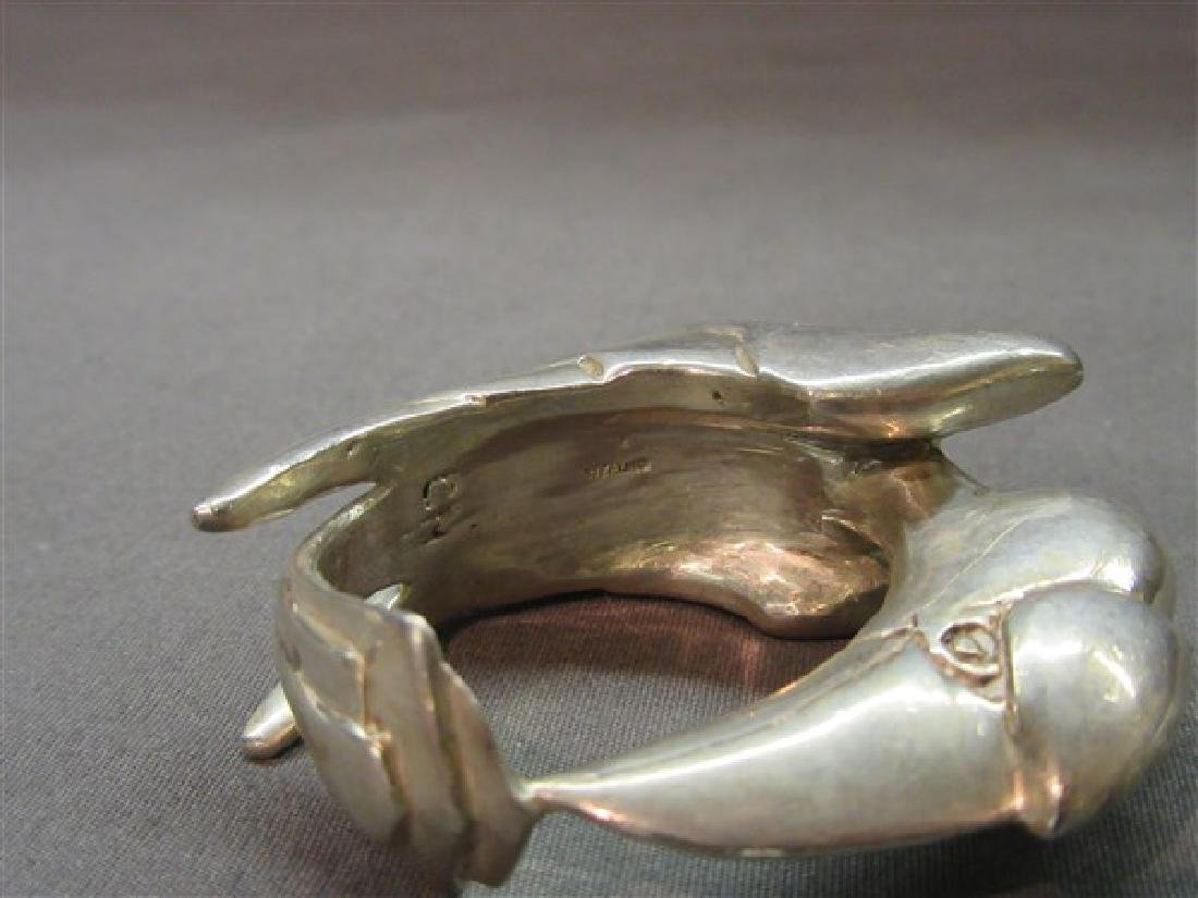 Clifton Nicholson Sterling Silver Bird Napkin Ring - 3