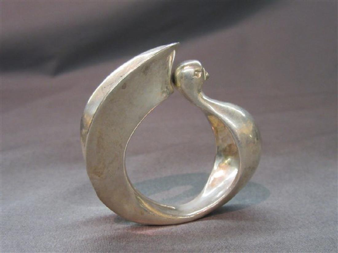 Clifton Nicholson (b. 1944) Silver Swan Napkin Ring - 2