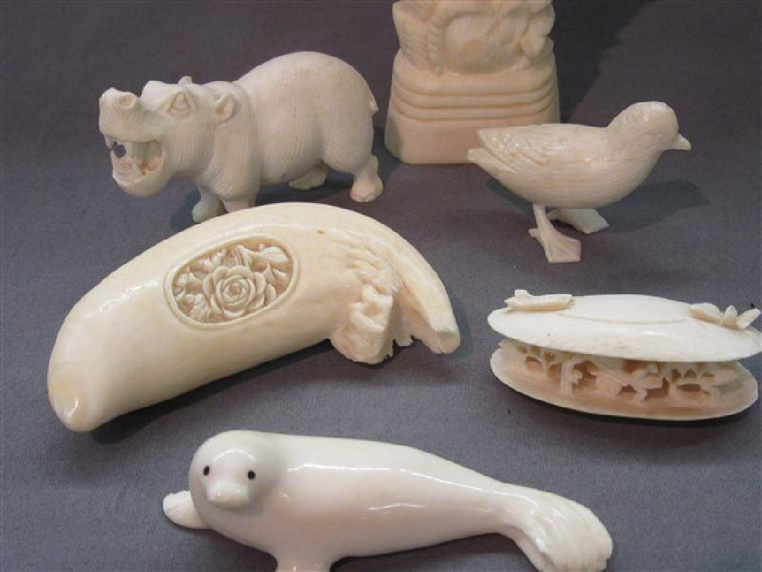 Six (6) Piece Bone Carvings - 2
