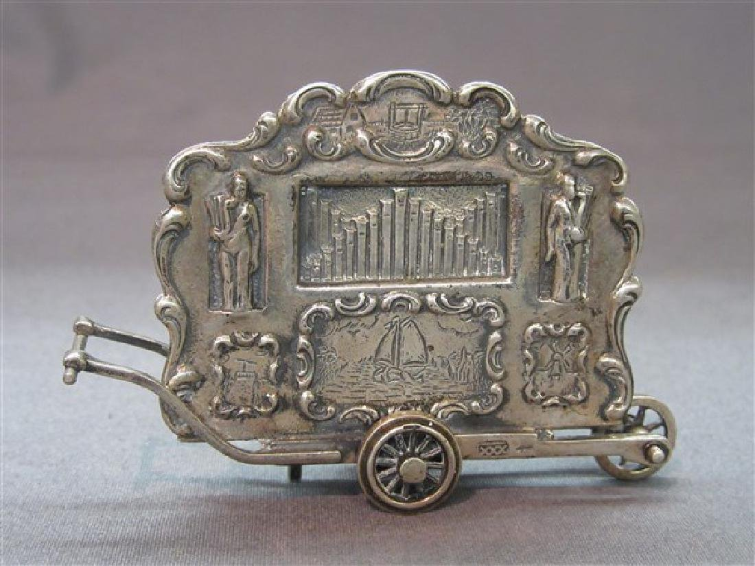 Continental Sterling Silver Travelling Miniature Organ