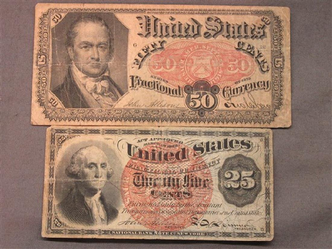 Two (2) Piece U.S. Fractional Currency