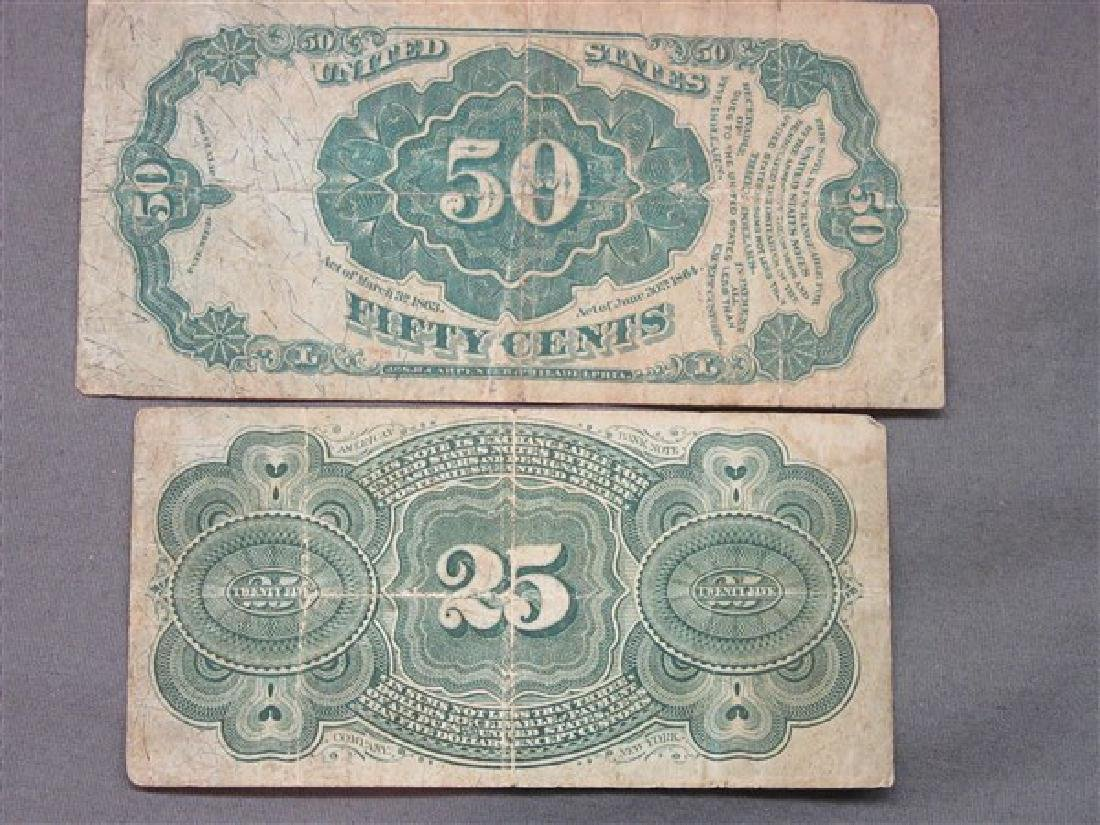 Two (2) Piece U.S. Fractional Currency - 2