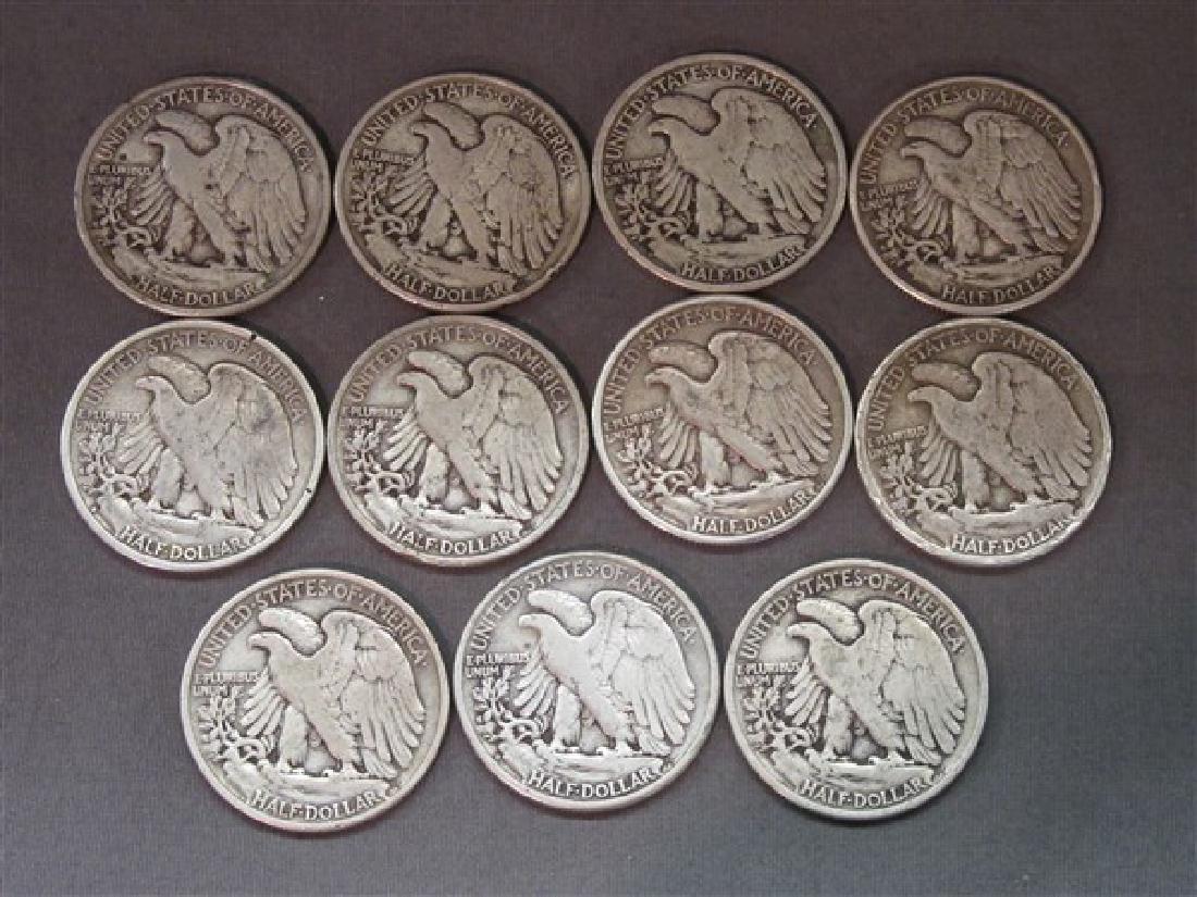 Eleven (11) Piece Walking Liberty Silver Half Dollars - 2