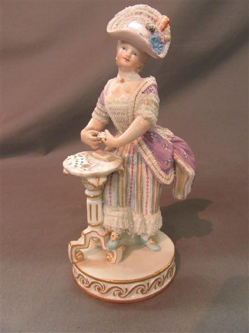 Meissen Porcelain Victorian Casino Card Player