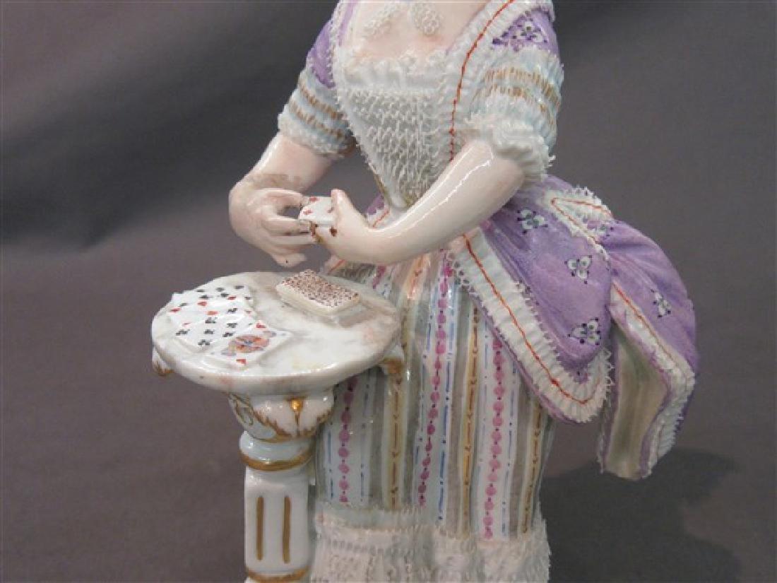 Meissen Porcelain Victorian Casino Card Player - 2