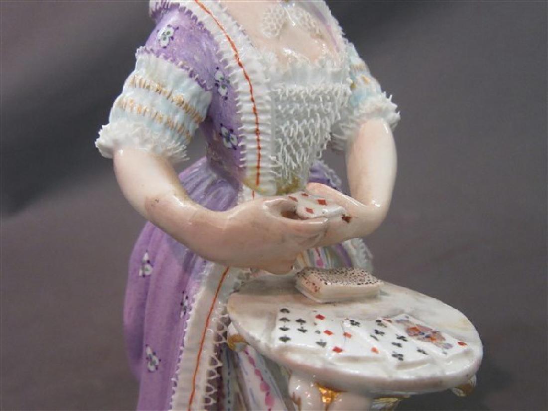 Meissen Porcelain Victorian Casino Card Player - 3