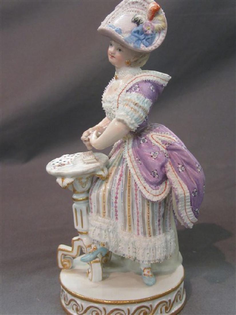 Meissen Porcelain Victorian Casino Card Player - 5