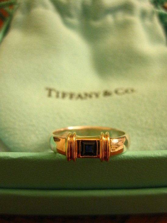 Tiffany & Co Vintage Sterling Silver & 14k Yellow Gold