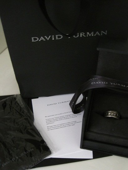 David Yurman Armory Band, Pave Black Diamonds Ring