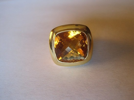 David Yurman Albion Citrine Ring Sz 6