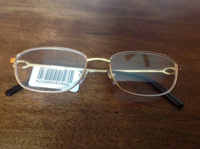 CARTIER WHISPER Gold Eye Glasses