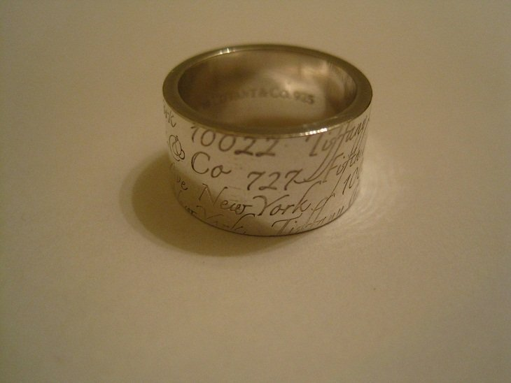 Tiffany & Co Sterling 727 Fifth Ave New York Wide Ring