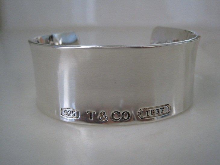 Tiffany & Co 1837 Wide Cuff Bangle Bracelet