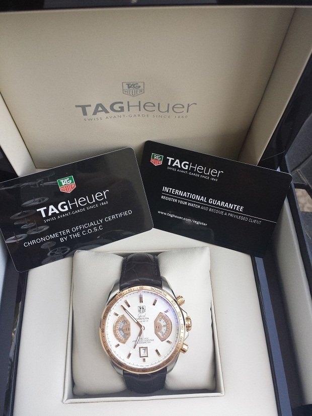 Tag Heuer Grand Carrera 18k/Stainless Steel Watch