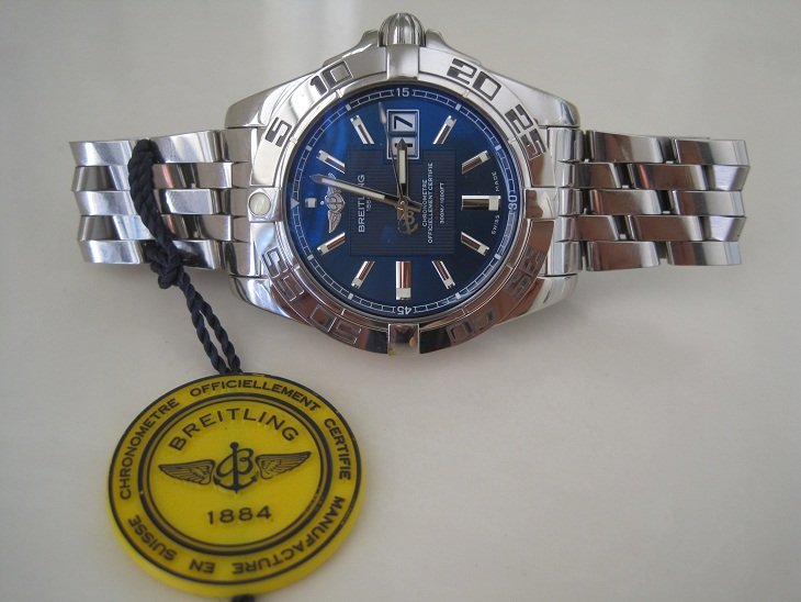 BREITLING WINDRIDER GALACTIC 41 BLUE FACE STAINLESS