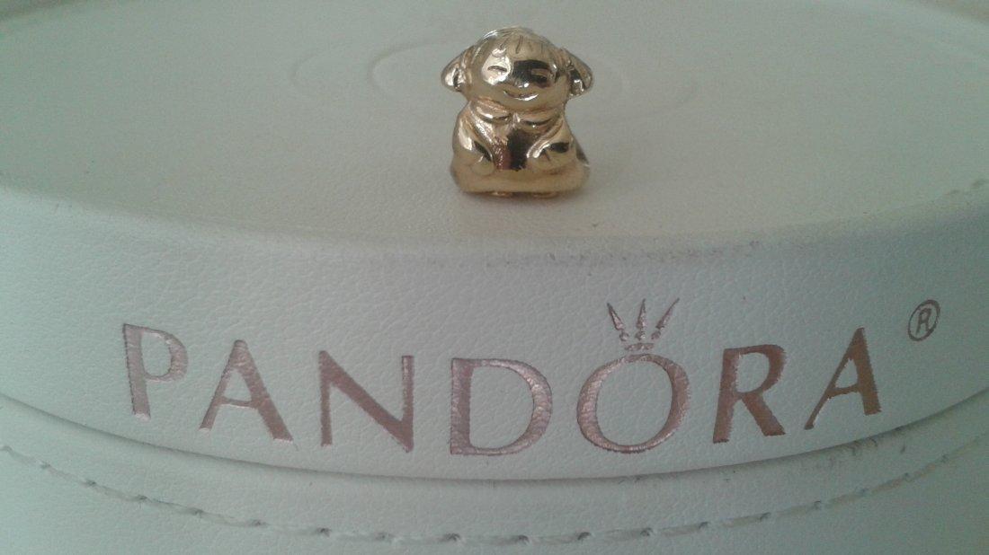 Pandora 14k 585 ALE Solid Gold Angel of Hope Charm
