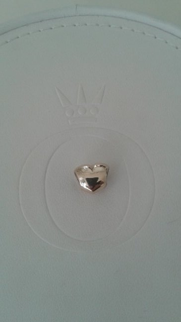 Pandora 14k 585 ALE Solid Gold Heart Charm 750119